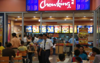 Chowking customers at South Seas Mall, Cotabato City, Philippines